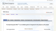 OpenCongress is a forum developed by the Participatory Politics Foundation. It allows users to research, track, and understand legislation in Congress. It includes an editable wiki, legislation/vote tracking, and information on representatives/senators, current issues, and money trails.
